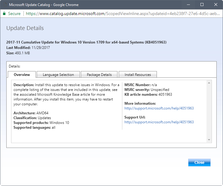 manually install feature update 1709