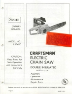 sears craftsman 16 electric chainsaw manual