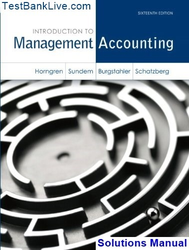 solution manual managerial accounting garrison 10th edition pdf