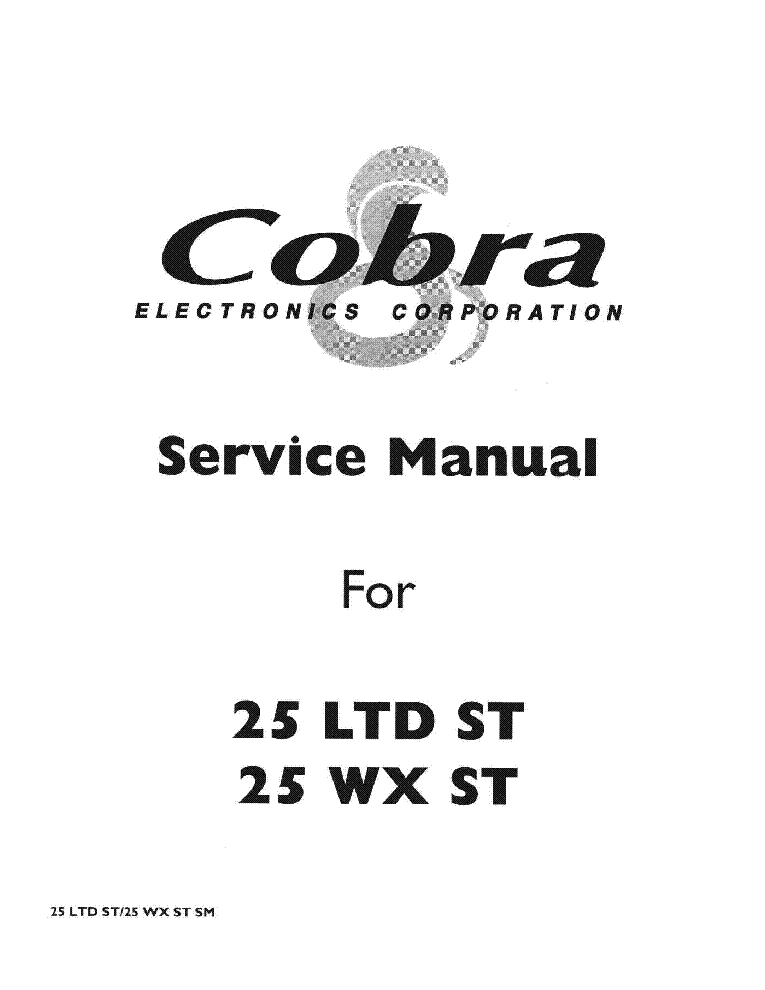 cobra 18 wx st shop manual
