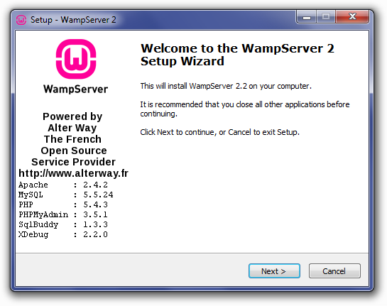 how to start wamp server manually