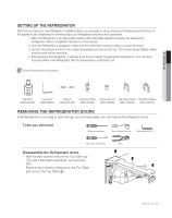 user manual showing product parts